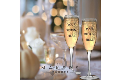 Wedding Mockup/ Glass Mockup/ Stock Photo/ Wedding Champagne Mockup/ W