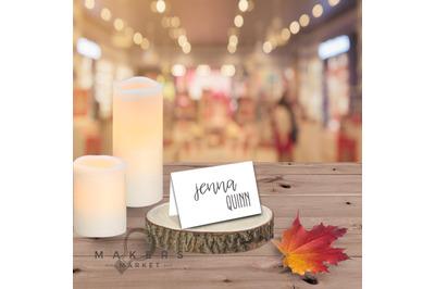 Wedding Mockup/ Place Card Mockup/ Stock Photo/ Wedding Name Tag Mocku
