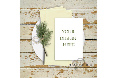 Wedding Mockup/ Place Card Mockup/ Stock Photo/ Wedding Name Tag Mocku