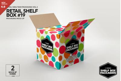 Retail Shelf Box 19 Packaging Mockup
