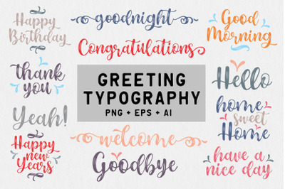 Greeting Typography