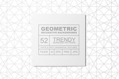 Geometric seamless oriental patterns