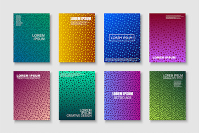 Creative trendy colorful brochures