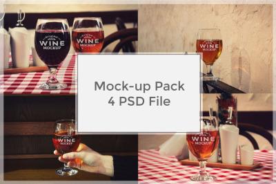 Wine Mockup Pack #4