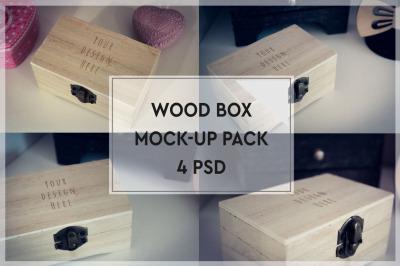 Wood Box Mockup Pack