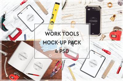 Work Tools Mockup Pack #2
