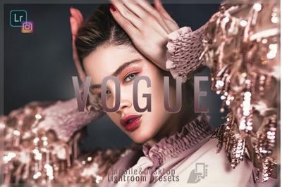 Vogue Desktop Lightroom Preset Fashion dng