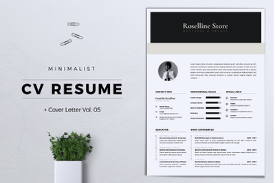 Minimalist CV/Resume Vol. 05