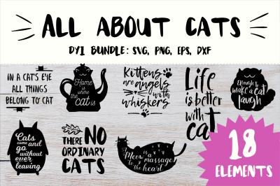 DIY SVG Cut File Phrases About Cats!