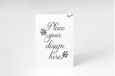 5x7 mockup Greeting card portrait psd vertical mock up minimal
