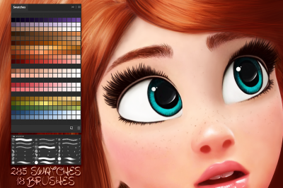 Cartoon Portrait Swatches