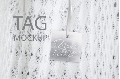 Square Tag Mockup, Styled Stock Photography, Wedding Thank You Tag