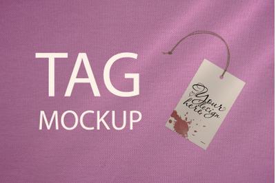 Tag Mockup, Thank You Tag, PSD Template, Photo of Gift Tag, Pink