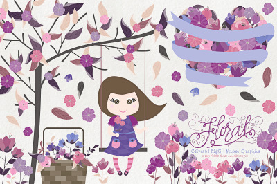 Flower Clipart & Vector Graphics Flora 25 Purple