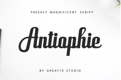Antiophie Magnificent Script