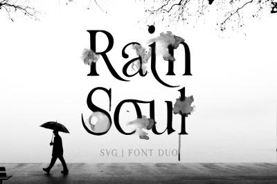 Rain Soul. SVG Font.