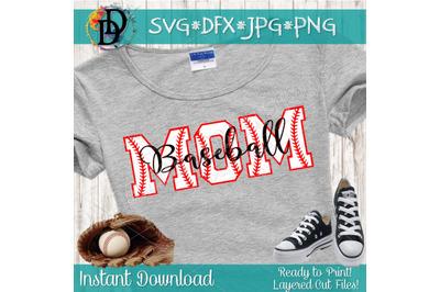 Baseball Mom SVG, Baseball svg, softball svg, baseball letters svg, p