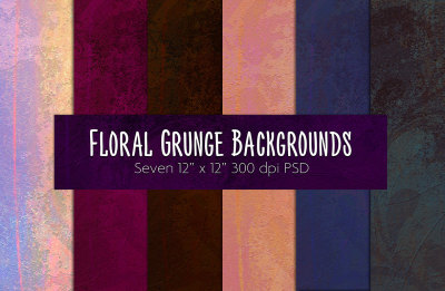 Floral Grunge #1 Background