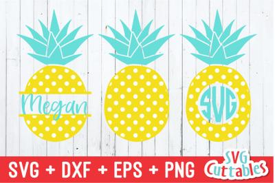 Polka Dot Pineapples | Summer | SVG Cut File