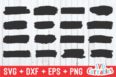 Paint Brush Strokes | SVG Cut File