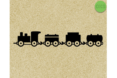 toy train svg, dxf, vector, eps, clipart, cricut, download