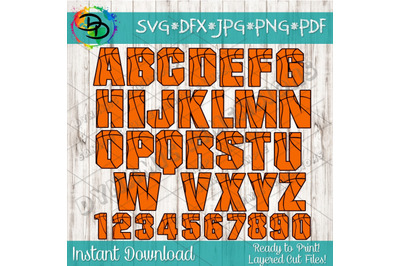 Basketball SVG, Basketball font, alphabet, Basketball letters, numbers