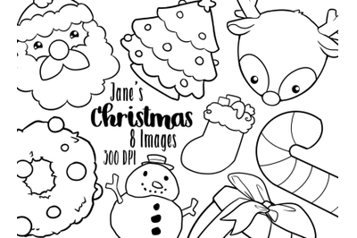 Kawaii Christmas Clipart