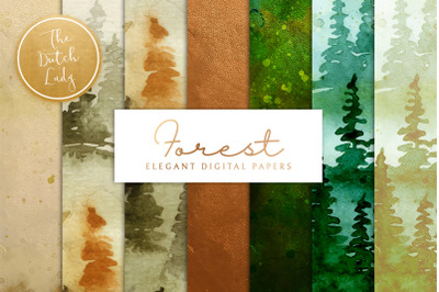Forest & Pine Wood Scrapbook Papers