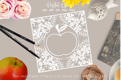 Apple paper cut design