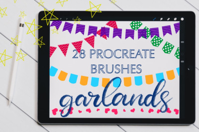Procreate Brush set - Garlands