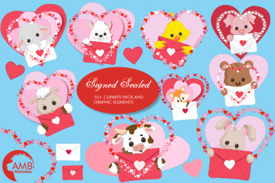 Signed Sealed Delivered Clipart AMB-2149