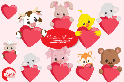 Critters Love Clipart AMB-2152