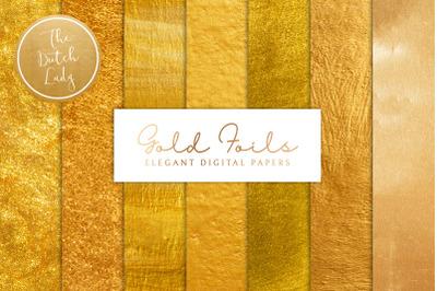 Gold Foil Texture Scrapbook Papers