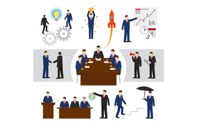 Vector business people and teamwork