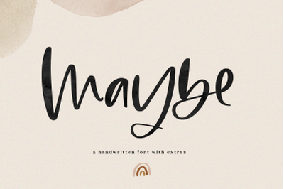 Maybe - Handwritten Script Font with Doodles