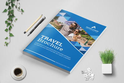 Travel Bi Fold Brochure template