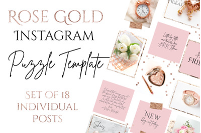 Rose Gold Puzzle Instagram Template