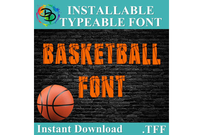 Basketball SVG, Basketball font, .TFF, alphabet, Basketball letters, n