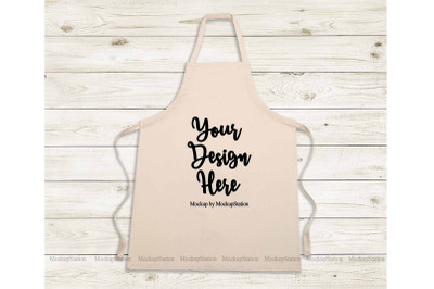 Beige Apron Mockup, Blank Apron Template Mock Up, Chef Apron