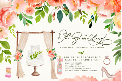 Oh MY Wedding Watercolor Set