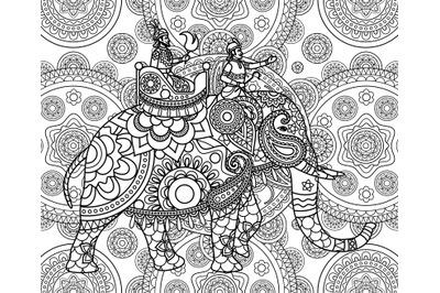 Doodle Indian maharajah