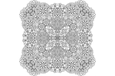 Beautiful colorless geometric patterns on white