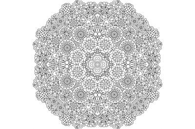 Pretty geometric floral designs on white