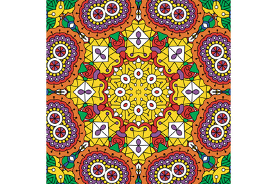 Psychedelic background with geometric designs