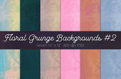Floral Grunge #2 Backgrounds