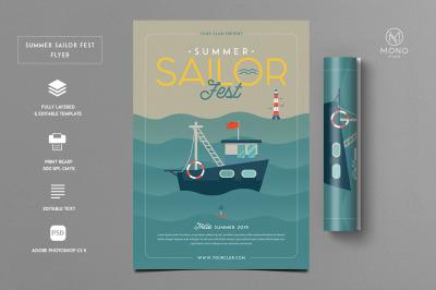 Summer Sailor Fest Flyer