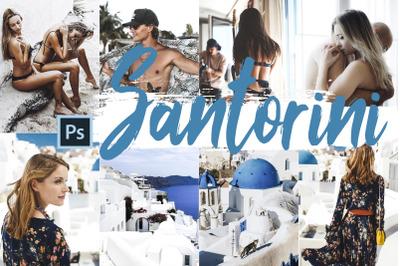 Neo Santorini Theme Color Grading photoshop actions