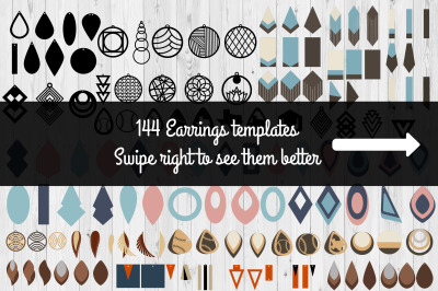 Earrings Templates Humble Bundle | SVG Cut Files | Commercial Use |