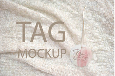 Round Tag Mockup, Styled Stock Photography