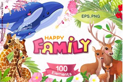 vector Happy Family